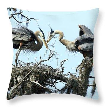 Throw Pillow featuring the photograph New Twig by Deborah Benoit