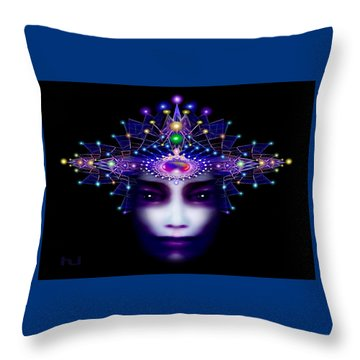 Celestial  Beauty Throw Pillow by Hartmut Jager