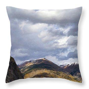 Peeking At The Peaks Throw Pillow