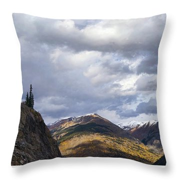 Peeking At The Peaks Throw Pillow