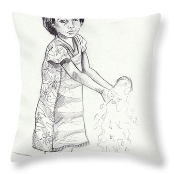 New Water Throw Pillow by John Keaton