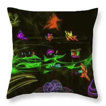 New Wold #g9 Throw Pillow