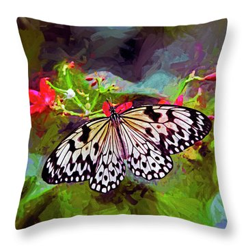 New World Coming To Life Throw Pillow by James Steele