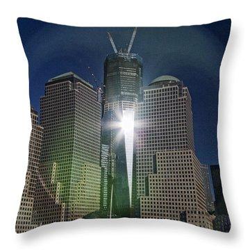 New World Trade Center Throw Pillow by David Smith
