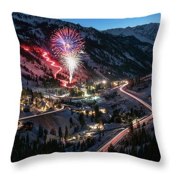 New Year's Eve At Snowbird Throw Pillow