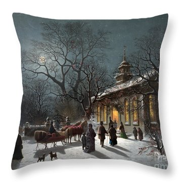 New Years Eve, C1876 Throw Pillow by Granger