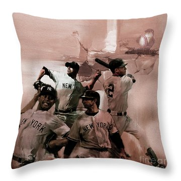 New York Baseball  Throw Pillow by Gull G