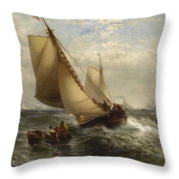 New York Bay Throw Pillow