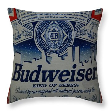 New York Bud Throw Pillow by Rob Hans