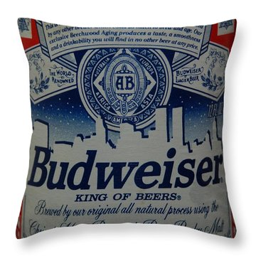 New York Bud Throw Pillow