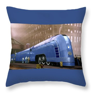 New York Central Throw Pillow by Steven Agius