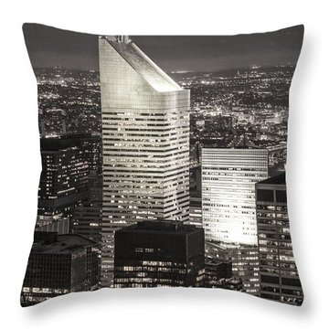 Throw Pillow featuring the photograph New York Citigroup Center  by Juergen Held