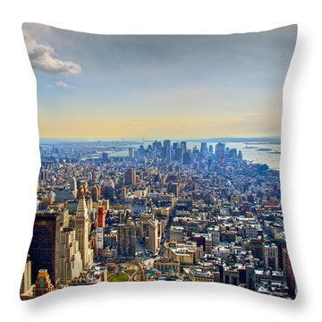 New York City - Manhattan Throw Pillow by Mark Dodd