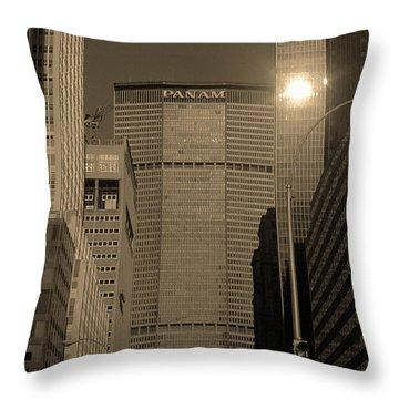 New York City 1982 Sepia Series - #7 Throw Pillow