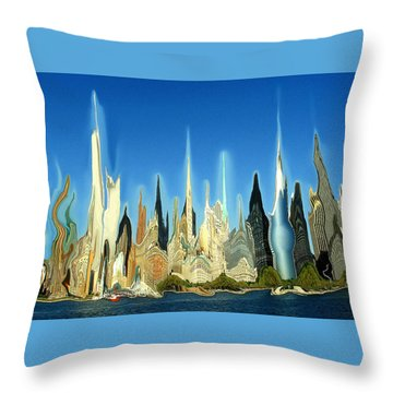New York City 2100 - Modern Art Throw Pillow