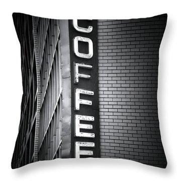 New York City Coffee House Throw Pillow