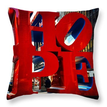 New York City - Hope Throw Pillow
