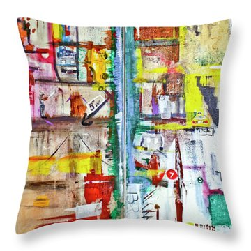 New York City Icons And Symbols Throw Pillow