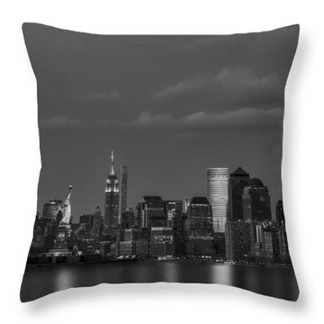 Throw Pillow featuring the photograph New York City Icons Bw by Susan Candelario