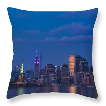 New York City Icons Throw Pillow