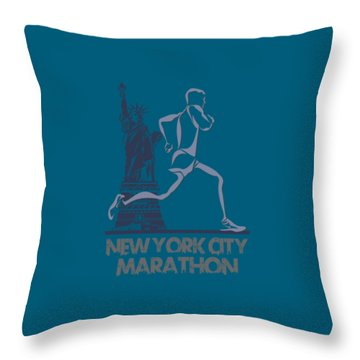 New York City Marathon3 Throw Pillow
