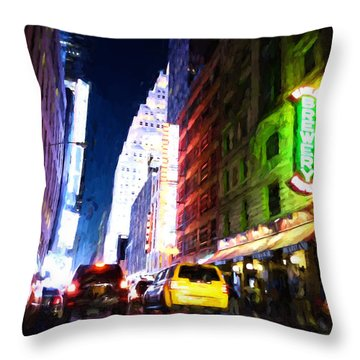 New York City Throw Pillow by Matthew Ashton