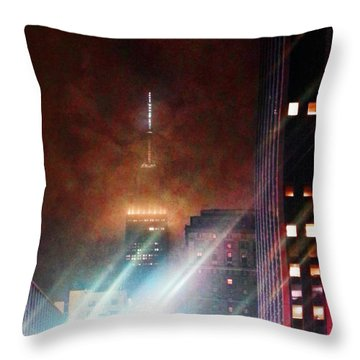 New York City Night Throw Pillow by Joseph J Stevens
