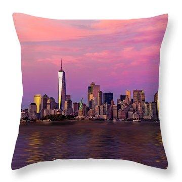 New York City Nyc  Landmarks Throw Pillow