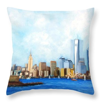 New York City Rebirth Throw Pillow