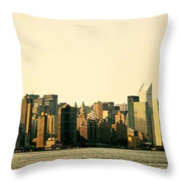 New York City Skyline Panorama Throw Pillow by Vivienne Gucwa