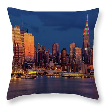 Throw Pillow featuring the photograph New York City Skyline Pride by Susan Candelario
