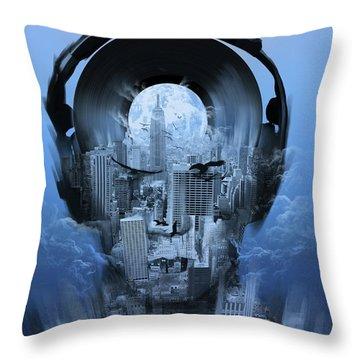 New York City Sound 4 Throw Pillow