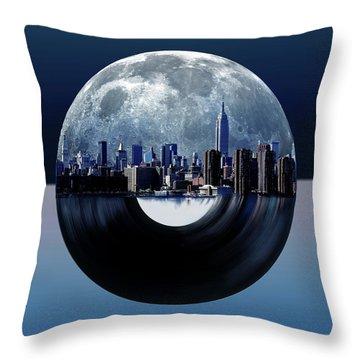 New York City Sound 6 Throw Pillow
