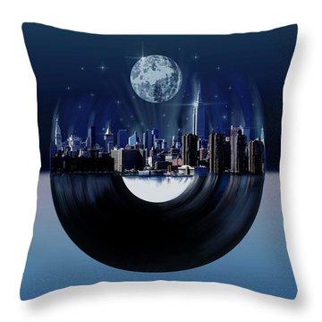 New York City Sound 7 Throw Pillow