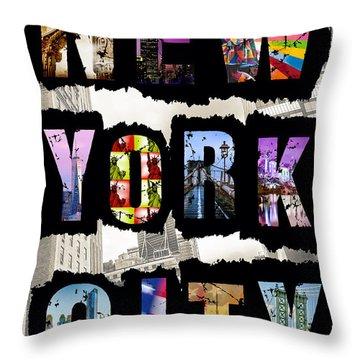 New York City Text Throw Pillow