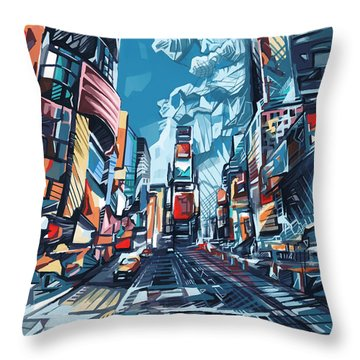 New York City-times Square Throw Pillow