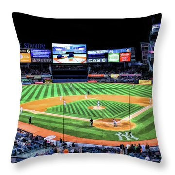 New York City Yankee Stadium Throw Pillow