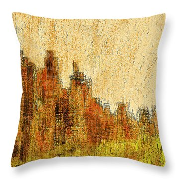 New York City In The Fall Throw Pillow