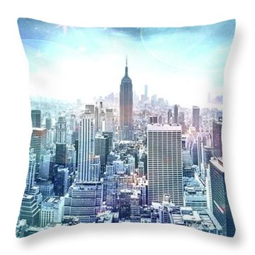 New York Fairytales Throw Pillow
