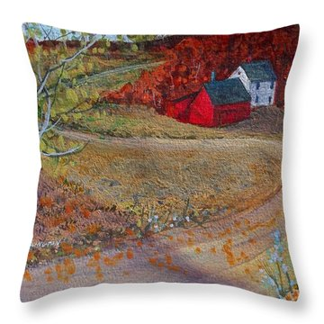 New York Fall Valley Throw Pillow