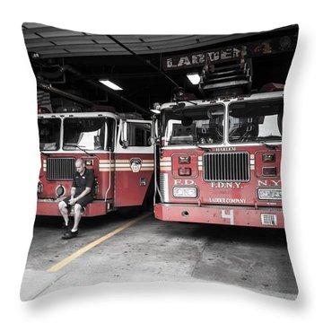 New York Fire Department Throw Pillow