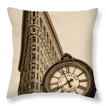 Throw Pillow featuring the photograph New York Flatiron by Juergen Held