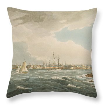New York From Governors Island Throw Pillow