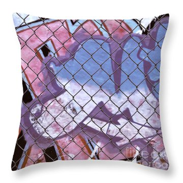 New York Graffiti Abstract Cities Photograph - New York New York Throw Pillow