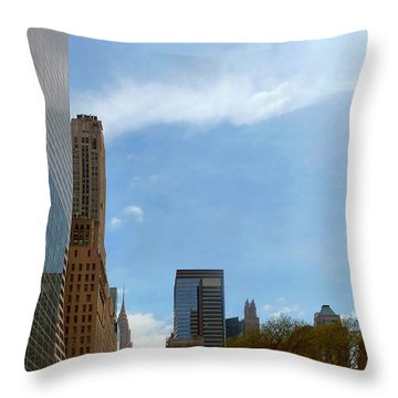 New York Throw Pillow by Helen Haw