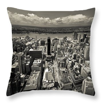New York Husdon Throw Pillow