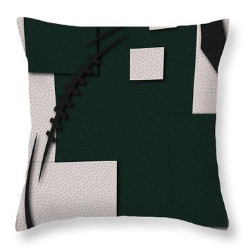New York Jets Football Art Throw Pillow