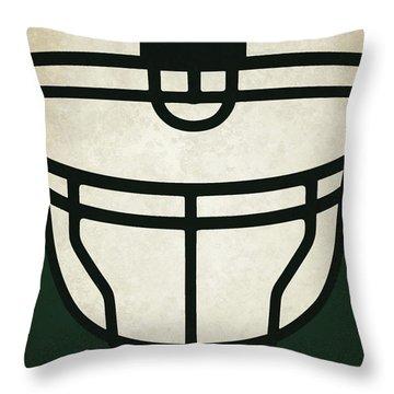 New York Jets Helmet Art Throw Pillow