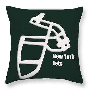 New York Jets Retro Throw Pillow