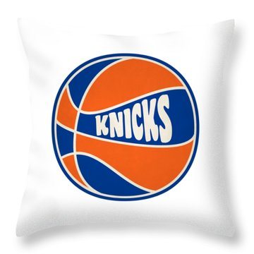 New York Knicks Retro Shirt Throw Pillow